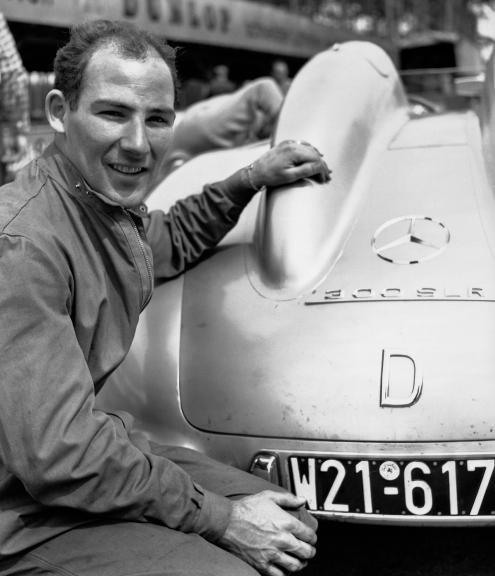 Luego de triunfar en Italia, participó en las pruebas de pilotos de la armadora, en 1955. Foto: Mercedes-Benz.